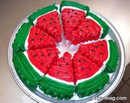 طرح های خاص و زیبا برای تزیین کیک شب یلدا