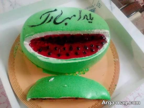 ایده های جذاب و خاص برای تزیین کیک شب یلدا