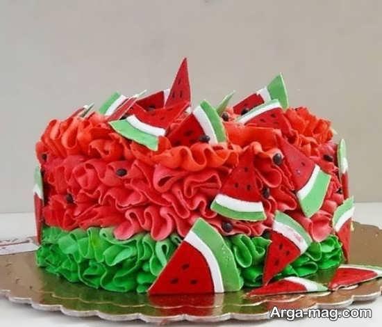 تزیین جدید کیک برای شب یلدا