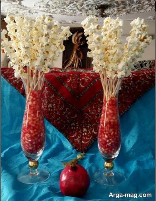 تزیین پف فیل به شکل گل
