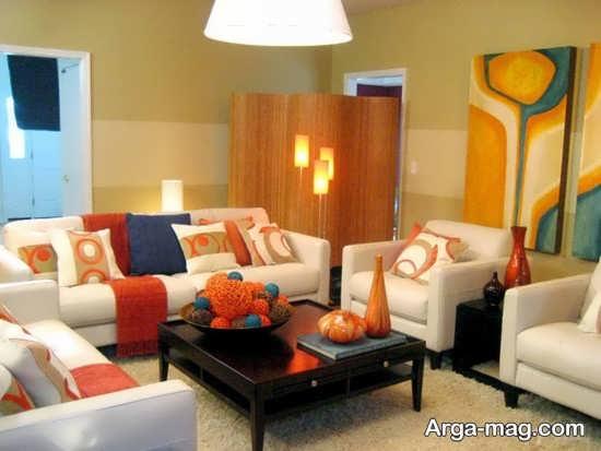 طراحی داخلی با رنگ نارنجی