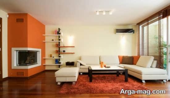 طراحی مدرن با رنگ نارنجی