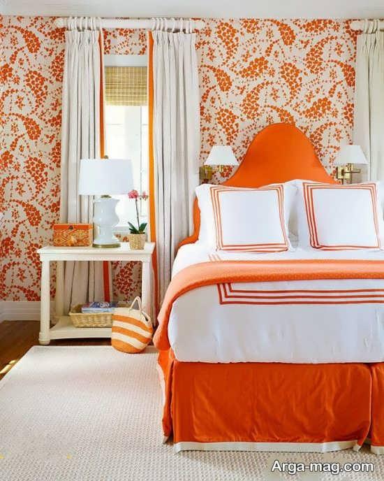 دکوراسیون با رنگ نارنجی