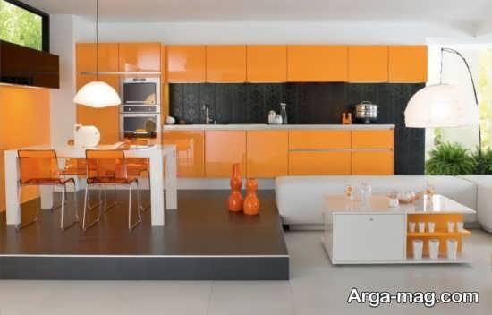 دکوراسیون جدید با رنگ نارنجی