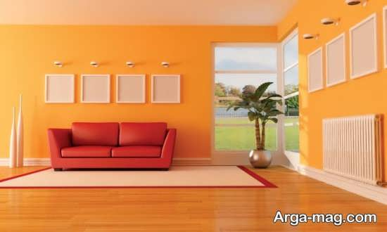 دیزاین با رنگ پرتقالی