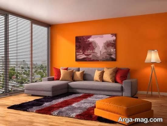 دکوراسیون دیدنی منزل با رنگ نارنجی