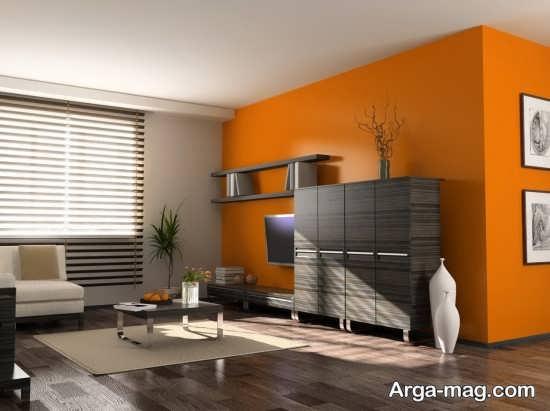 نمایی از منزل با رنگ نارنجی