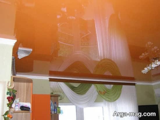 دکوراسیون شیک با رنگ نارنجی