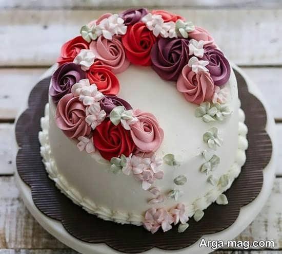 دکوراسیون کیک تولد عاشقانه