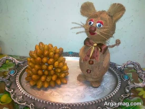 تزیین نارگیل به شکل حیوانات برای شب یلدا