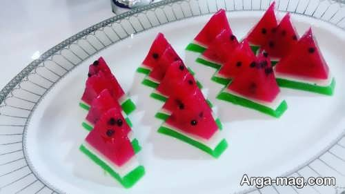 تزیین دسر هندوانه شب یلدا