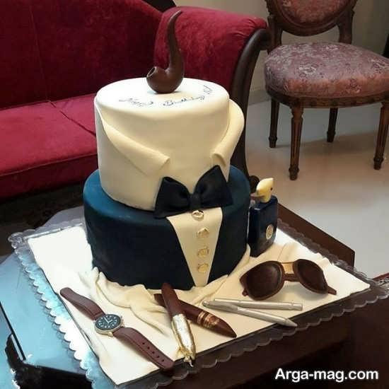 تزیین خلاقانه کیک تولد مردانه