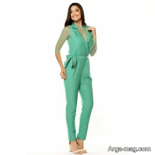 لباس سرهمی زیبا و سبز