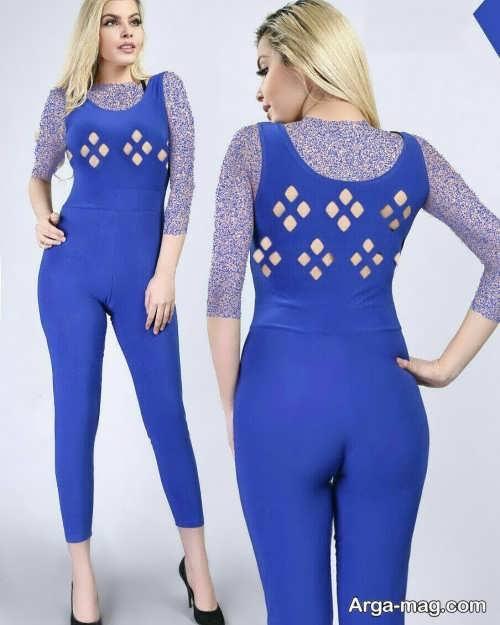 لباس سرهمی زنانه آبی