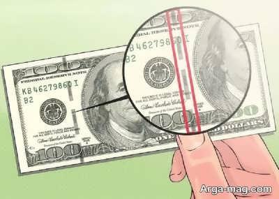 شناسایی دلار تقلبی با نخ نامرئی