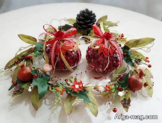 تزیین دانه های انار برای سفره عقد
