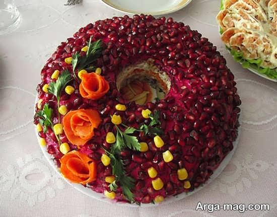 تزیین کیک انار دون شده