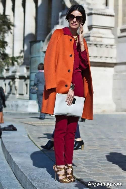 مدل پالتو نارنجی دخترانه