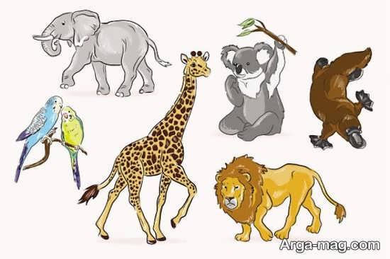 نقاشیهای جدید حیوانات جنگل