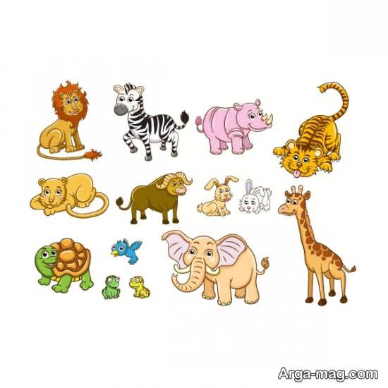 نقاشیهای دوست داشتنی حیوانات جنگل