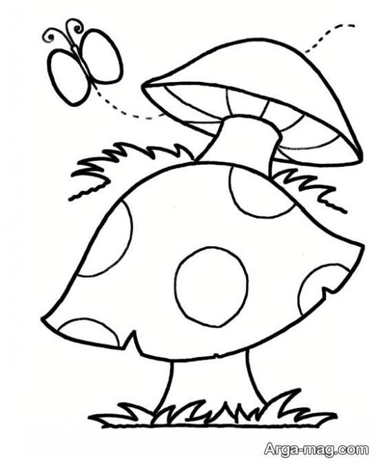 نقاشی قارچ برای کودکان