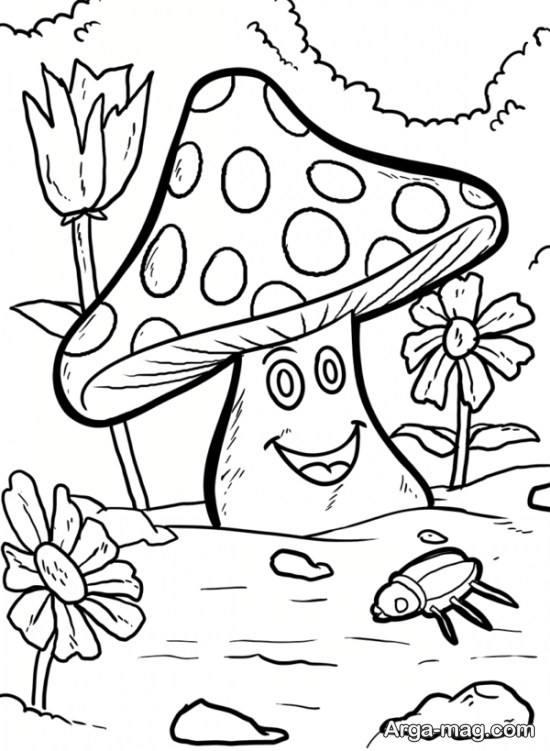 الگوی نقاشی قارچ