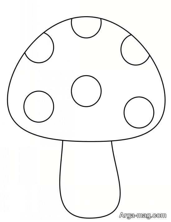 نقاشی با طرح قارچ