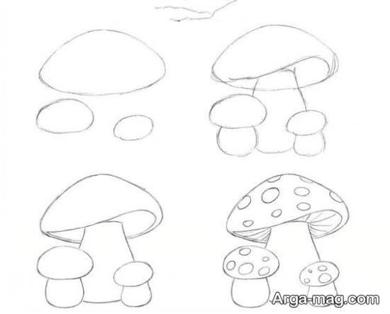 نحوه کشیدن قارچ