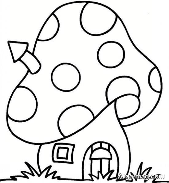 کشیدن قارچ به شکل خانه