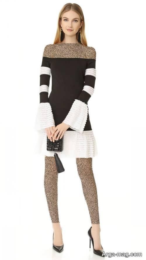 مدل لباس مجلسی سفید و مشکی دخترانه