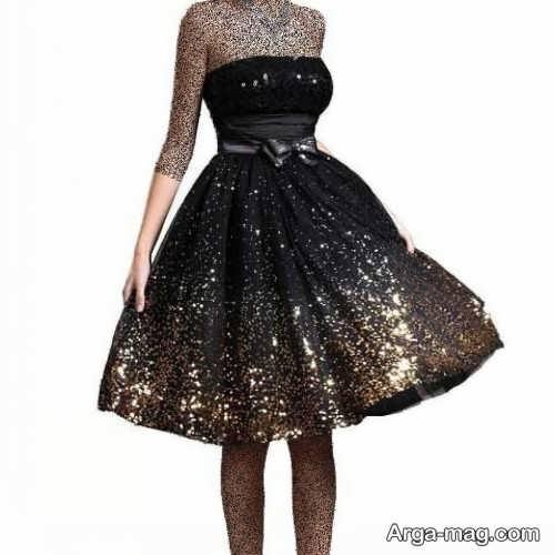 مدل لباس مجلسی شیک و کوتاه دخترانه