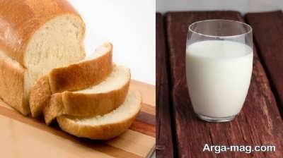 درمان حالت تهوع با شیر و نان تست