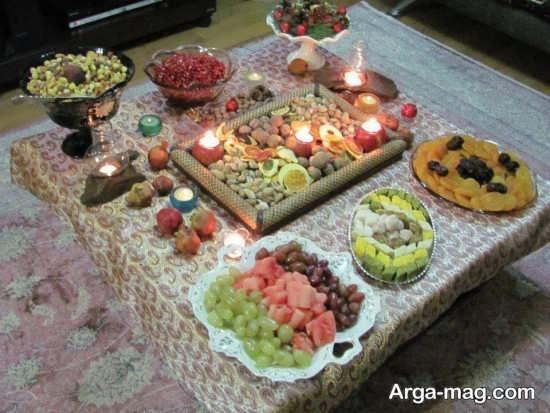 تزیین خانه برای مناسبت شب یلدا