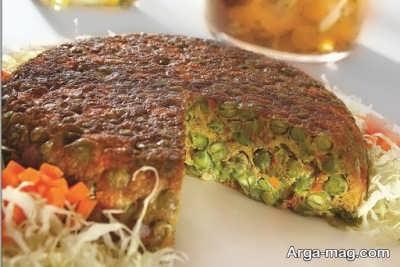 مراحل تهیه کوکو نخود فرنگی با گوشت چرخ کرده