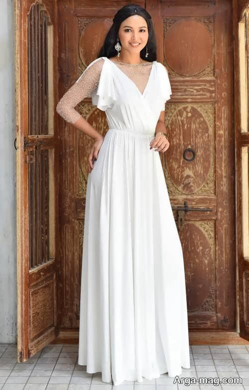 مدل لباس عروس ساده و جذاب