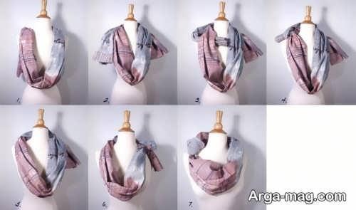 روش هایی برای بستن شال گردن