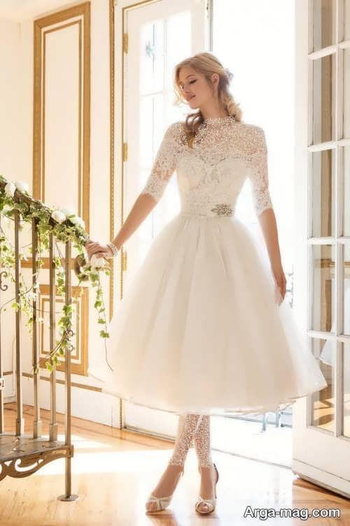 مدل لباس عروس پوشیده و زیبا