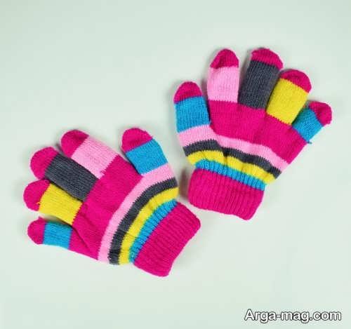 مدل دستکش رنگی بچه گانه