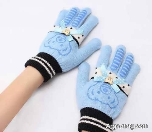 مدل دستکش بافتنی بچه گانه جدید