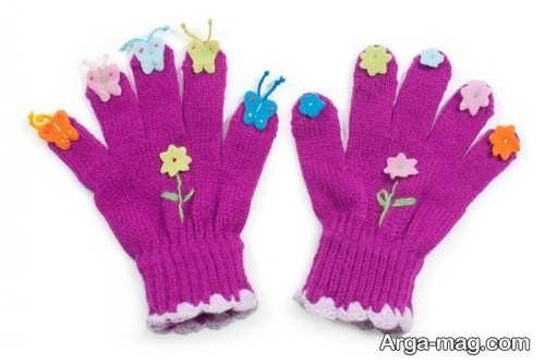 مدل دستکش زیبا بچه گانه