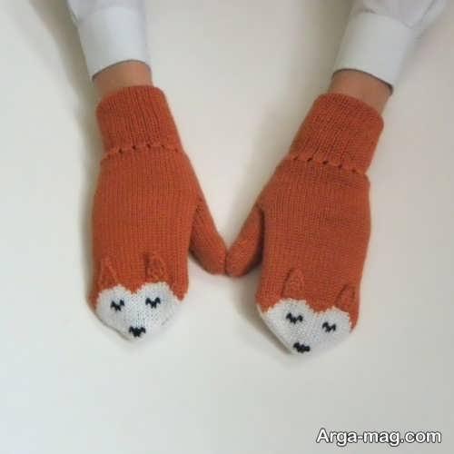 مدل دستکش بافتنی زیبا و شیک