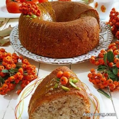 طرز تهیه کیک خرمالو پاییزی