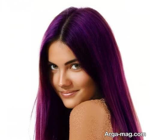 رنگ مو شرابی بنفش