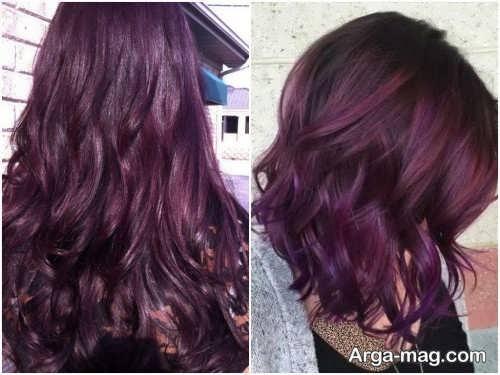 رنگ موی زیبا و جدید شرابی