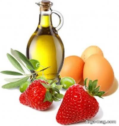 ماسک روغن زیتون و توت فرنگی برای مو