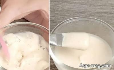 ماسک شیر و آرد برنج