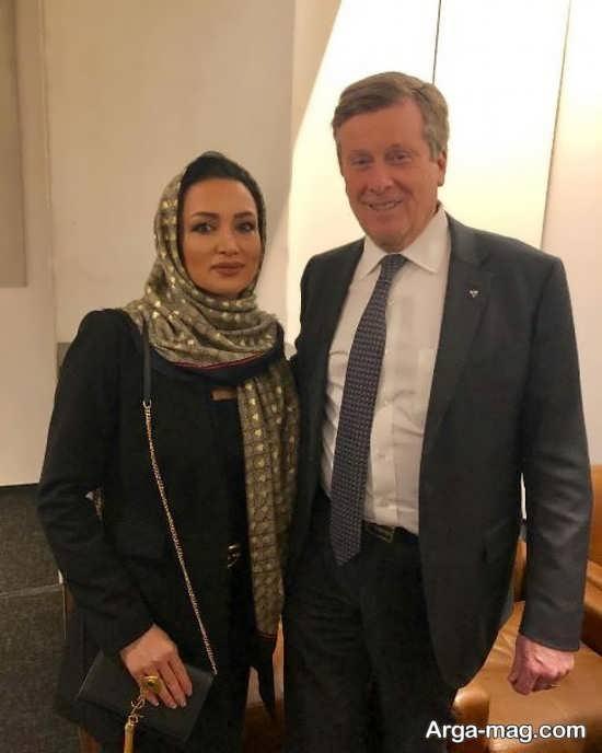 روناک یونسی با شهردار تورنتو