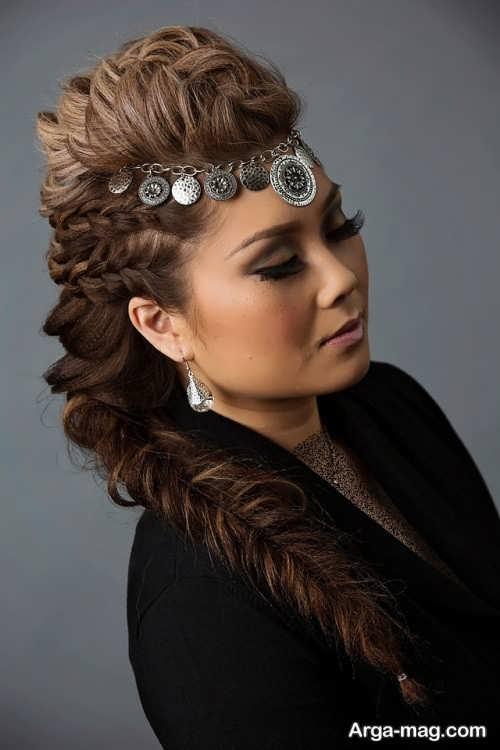 مدل بافت موی زنانه کف سر