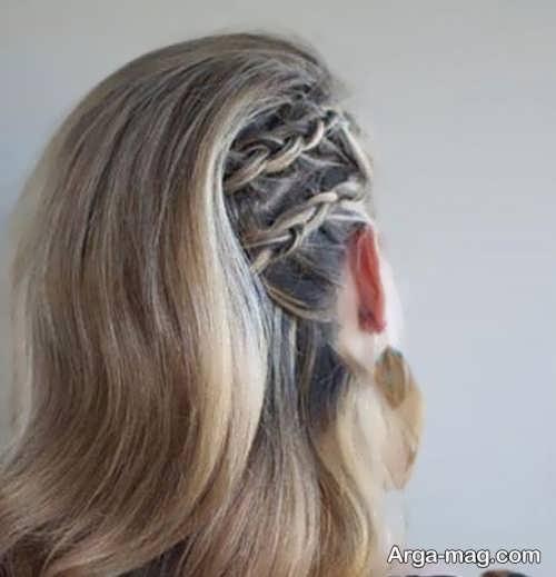 مدل بافت موی کنار سر