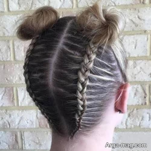 بافت موی کف سر دخترانه